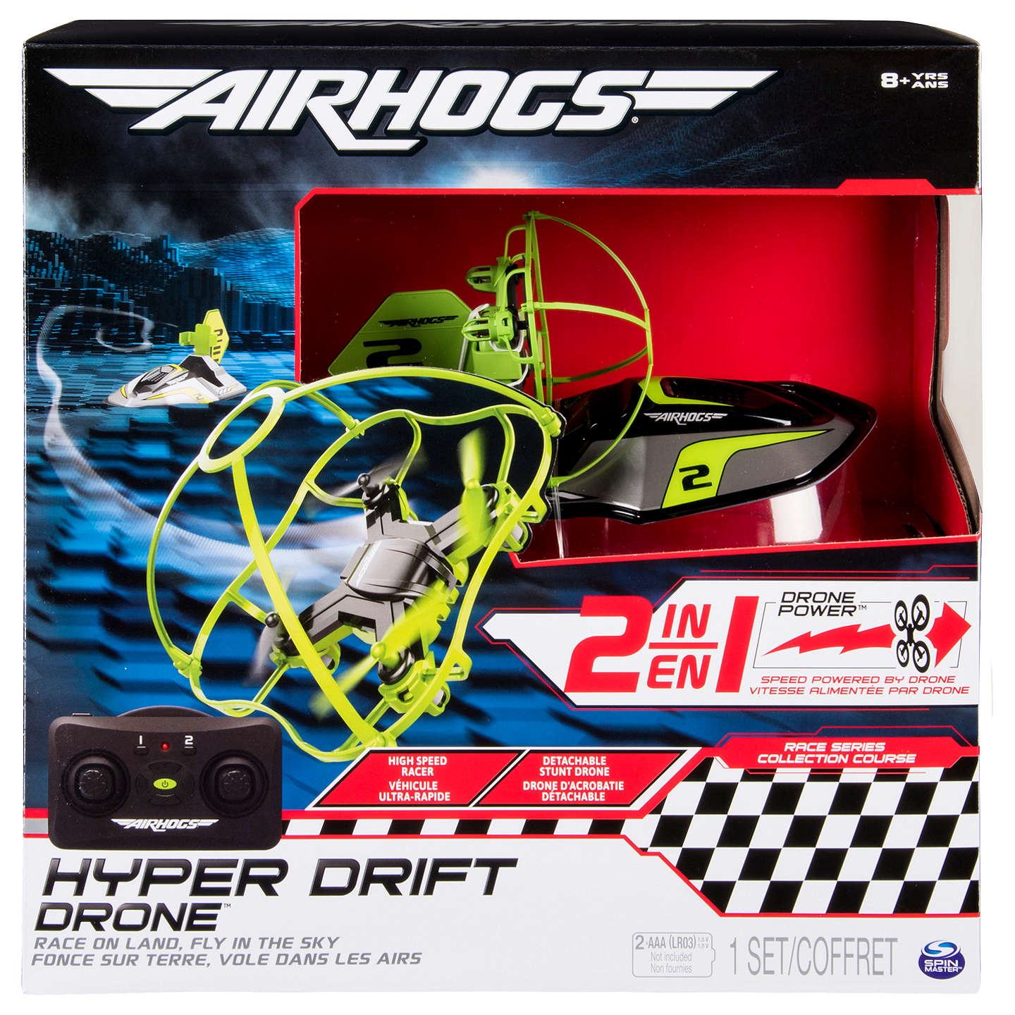 BuyAir Hogs 2 In 1 Hyper Drift Drone Online At Johnlewis