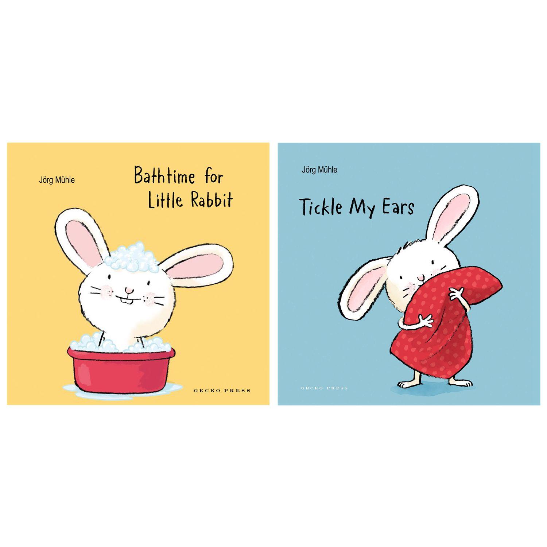 Children's Books Tickle My Ears and Bathtime For Little Rabbit Children's Book Set