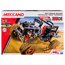 Buy Meccano 25 in 1 Off Road Racer Model Set Online at johnlewis.com