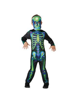 Rubies Neon Skeleton Children's Costume
