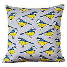 Buy Martha and Hepsie Blue Tit Cushion Online at johnlewis.com