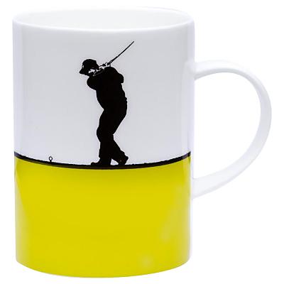 The Art Rooms Lime Golf Bone Mug