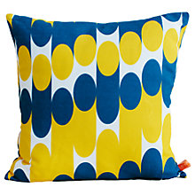 Buy Laura Spring Milkky Cushion, Navy Online at johnlewis.com