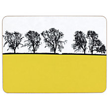 Buy The Art Rooms Masham Tablemat, Yellow Online at johnlewis.com