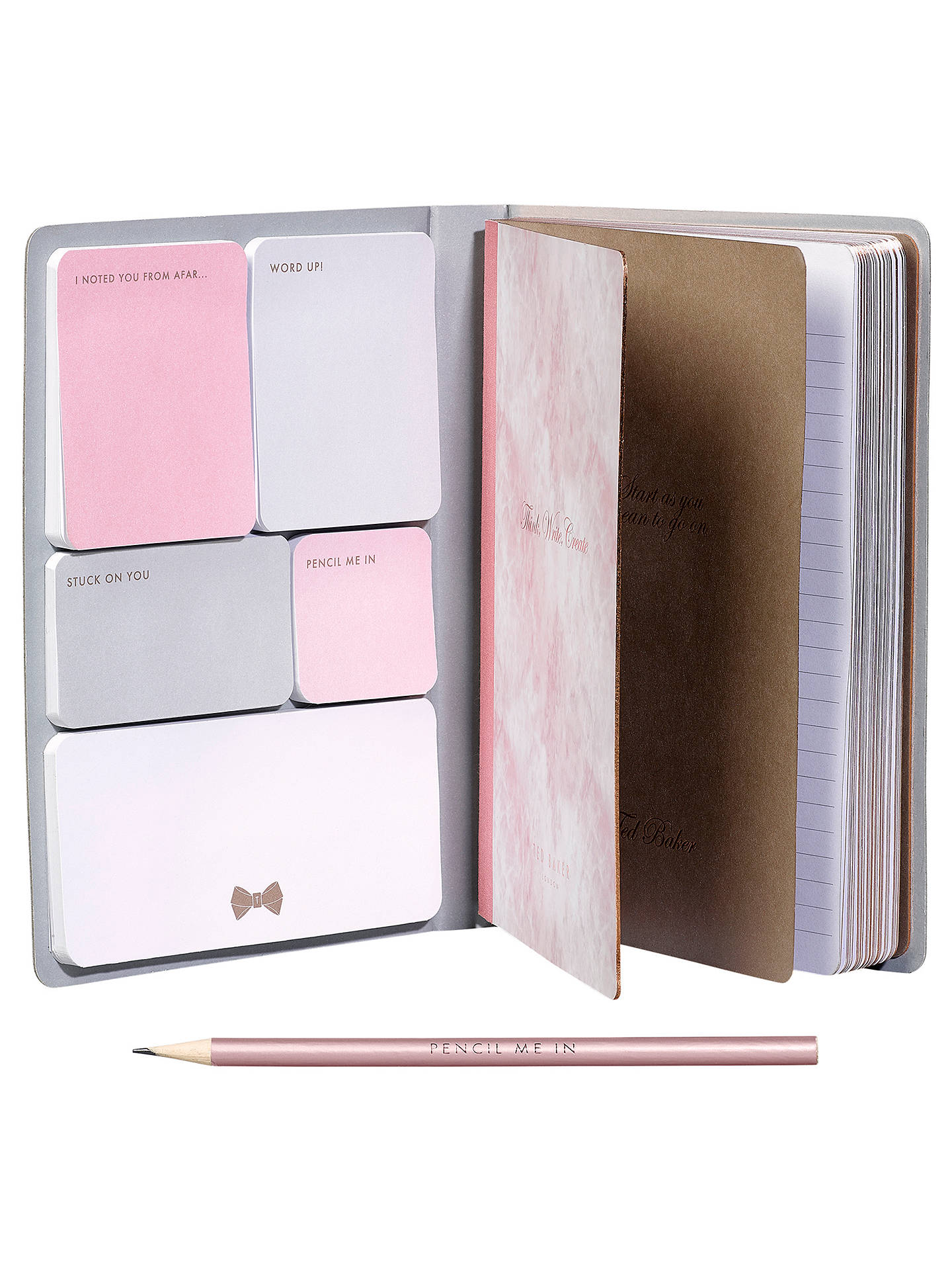 280437e092d8 ... Buy Ted Baker A5 Sticky Notes Notebook Online at johnlewis.com ...