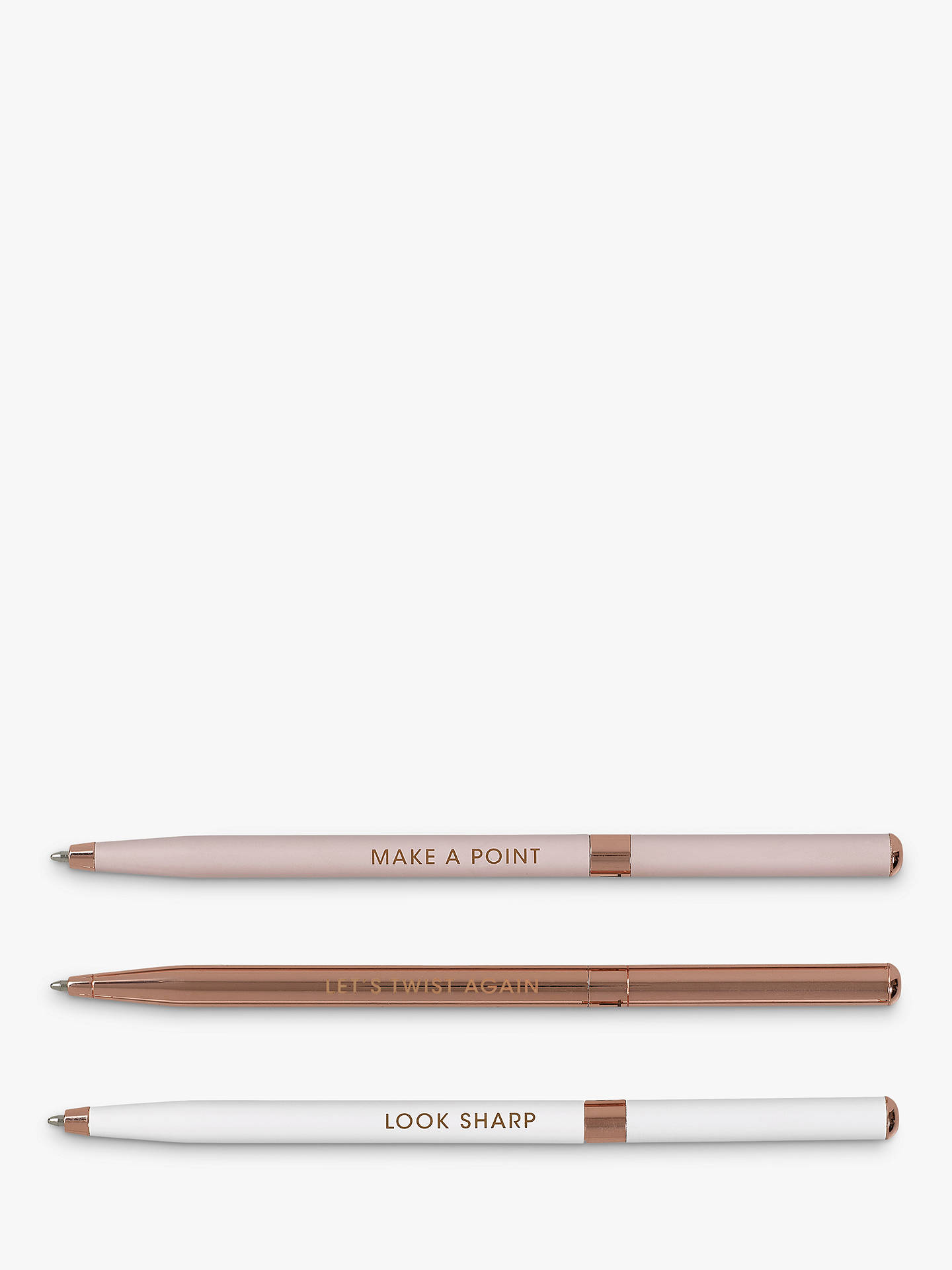 Ted Baker Twist Ballpoint Pen, Set of 3