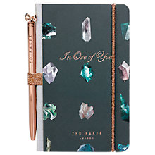 Buy Ted Baker Mini Notebook & Pen, Linear Gem Online at johnlewis.com