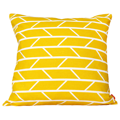 Laura Spring Convergence Cushion, Yellow