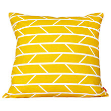 Buy Laura Spring Convergence Cushion, Yellow Online at johnlewis.com