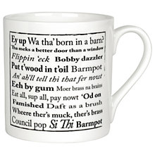 Buy The Little Button Co Yorkshire Sayings Mug Online at johnlewis.com