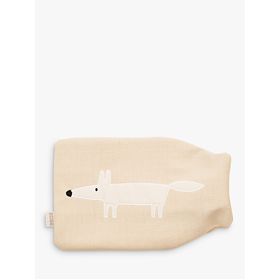 Scion Mr Fox Hot Water Bottle, Parchment Beige