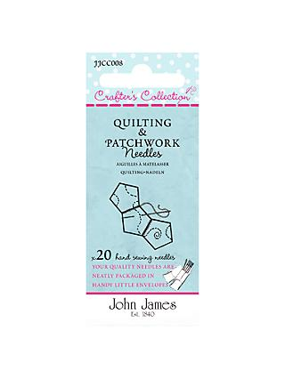 Needles by John James Crafters Collection Quilt and Patchwork Needles, Sizes 3-7, Pack of 20