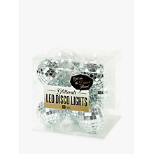 Buy Talking Tables Glitterati LED Disco Ball Lights, Silver Online at johnlewis.com