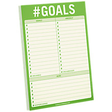 Buy Knock Knock Goals Pad Online at johnlewis.com