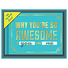 Buy Knock Knock Why You're Awesome Journal Online at johnlewis.com
