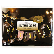 Buy Talking Tables Glitterati Just Dance Garland, Gold Online at johnlewis.com