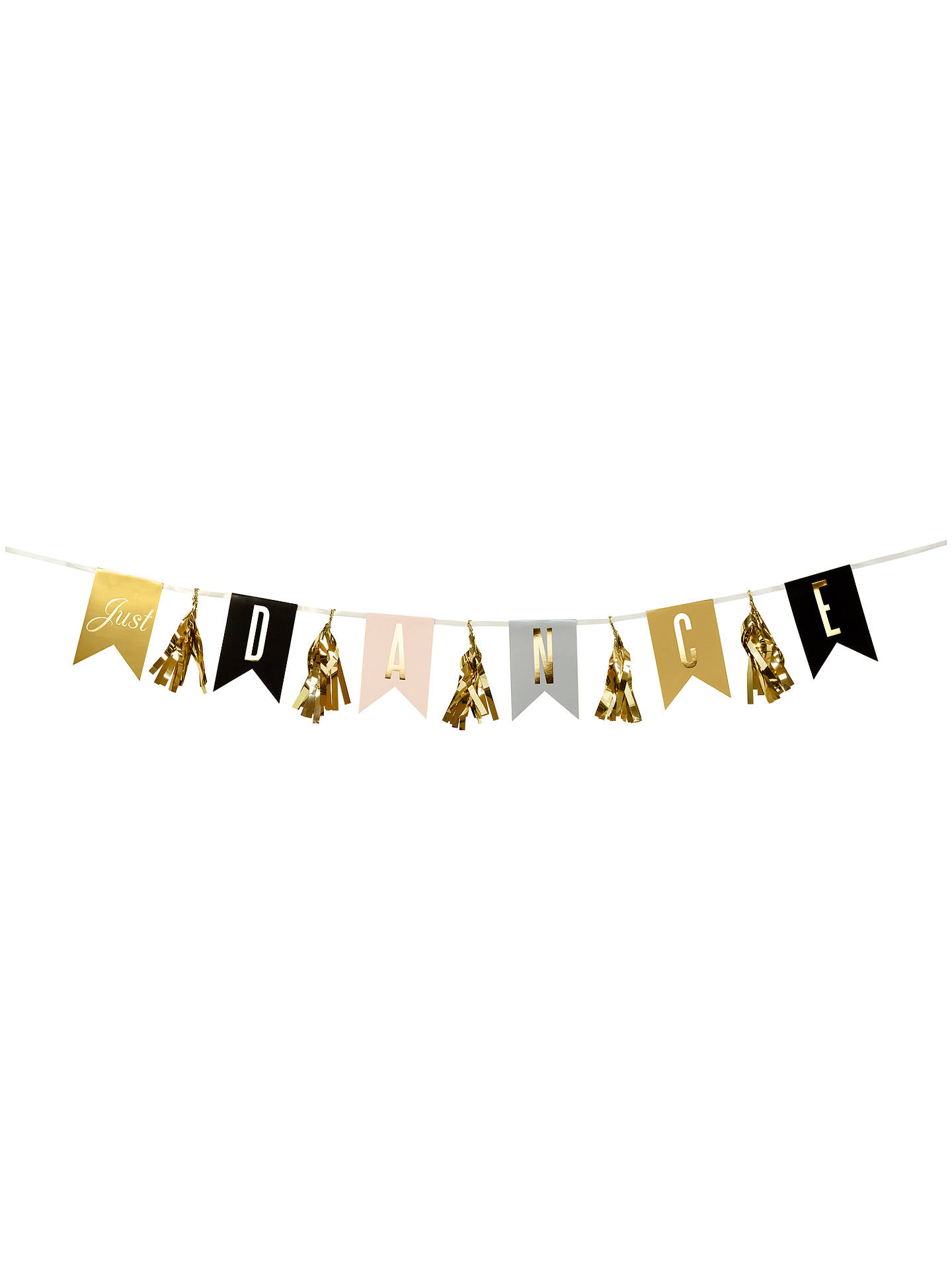 BuyTalking Tables Glitterati Just Dance Garland, Gold Online at johnlewis.com
