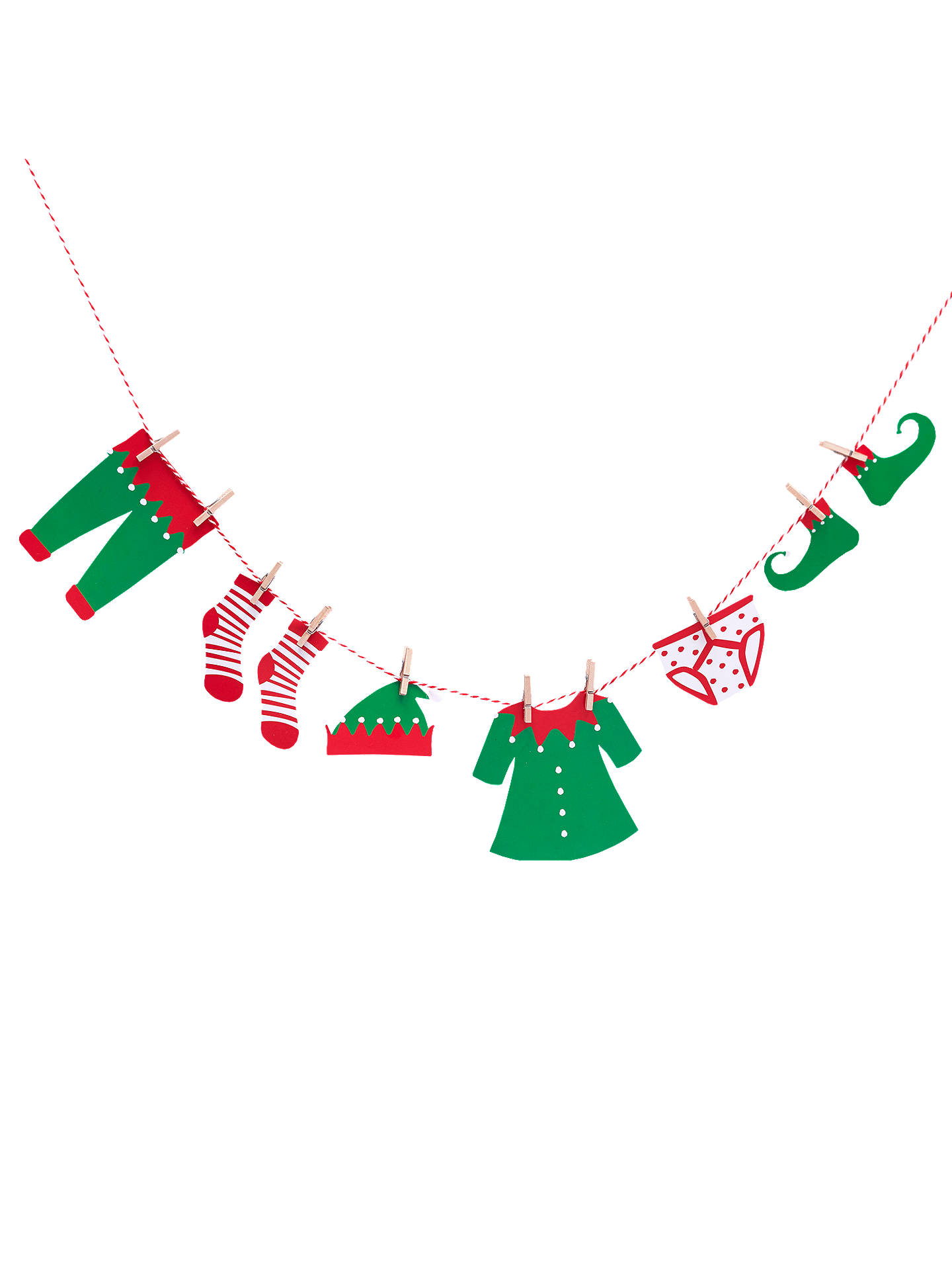 e546cefaeaa5 Buy Ginger Ray Elf Clothing Bunting Online at johnlewis.com ...