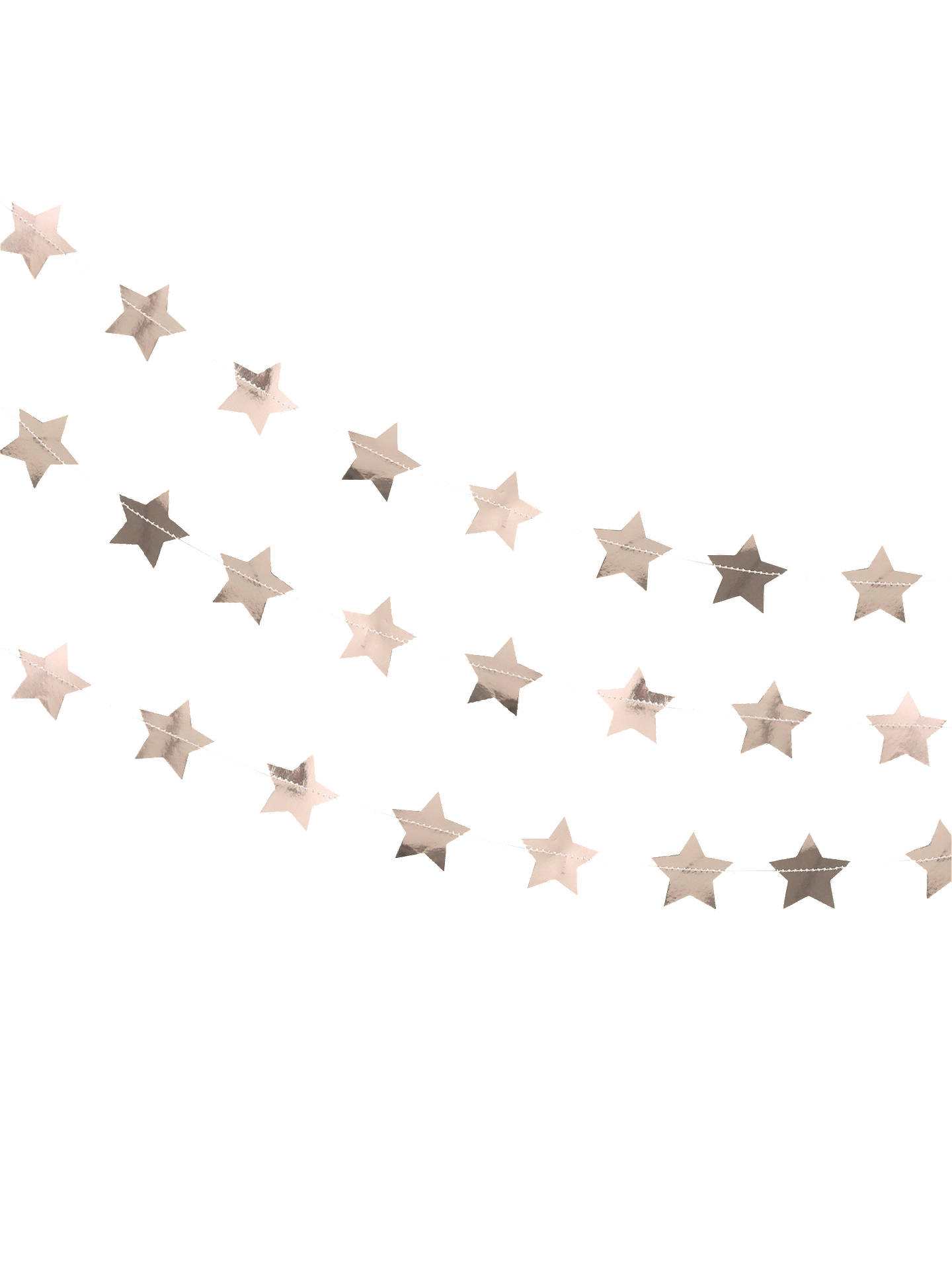 BuyGinger Ray Rose Gold Star Garland Online at johnlewis.com