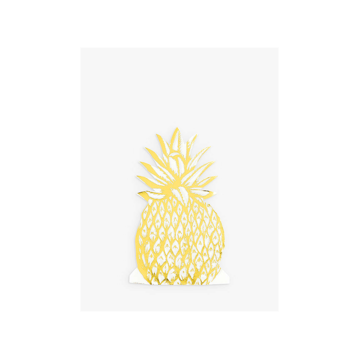 BuyTalking Tables Pineapple Gold Foil Napkins, Pack of 12 Online at johnlewis.com