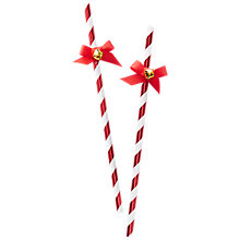 Buy Ginger Ray Paper Straws With Bells, Pack of 10 Online at johnlewis.com