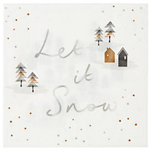 Buy Talking Tables Let It Snow Napkins, Pack of 20 Online at johnlewis.com
