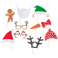 Buy Ginger Ray Santa & Friends Photo Booth Props, Pack of 10 Online at johnlewis.com