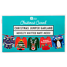 Buy Talking Tables Christmas Jumper Garland, Multi Online at johnlewis.com