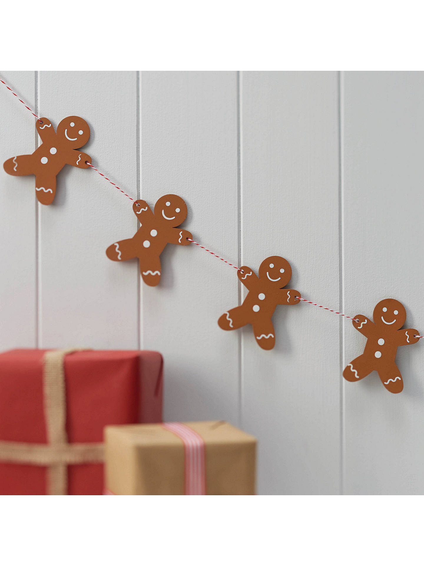 8574a23d373f Buy Ginger Ray Ginger Bread Wooden Bunting Online at johnlewis.com ...