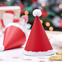 Buy Ginger Ray Mini Santa Hats, Pack of 6 Online at johnlewis.com