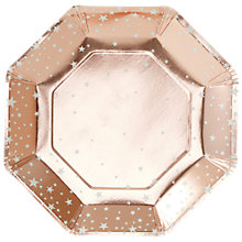 Buy Ginger Ray Rose Gold Star Plate, Pack of 8 Online at johnlewis.com