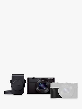"Sony Cyber-shot DSC-RX100 III Camera, HD 1080p, 20.1MP, 2.9x Optical Zoom, Wi-Fi, NFC, OLED EVF, 3"" Screen with Case & Attachment Grip Kit"
