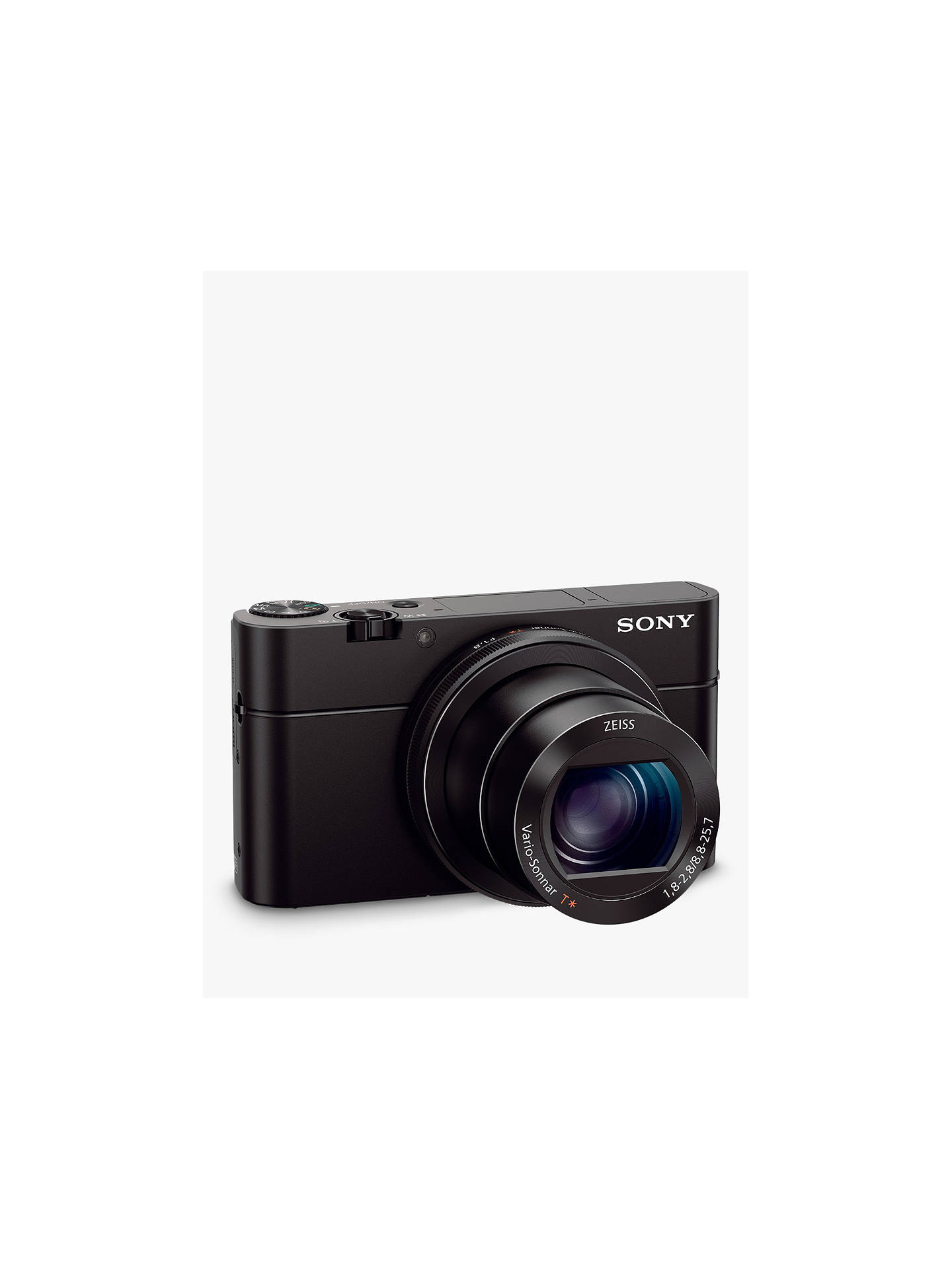 "Buy Sony Cyber-shot DSC-RX100 III Camera, HD 1080p, 20.1MP, 2.9x Optical Zoom, Wi-Fi, NFC, OLED EVF, 3"" Screen with Case & Attachment Grip Kit Online at johnlewis.com"