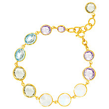 Buy Auren 18ct Gold Vermeil Moonstone Topaz and Amethyst Bracelet, Gold/Multi Online at johnlewis.com