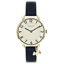 Buy Radley RY2542 Women's Southwark Leather Strap Watch, Park Blue/Cream Online at johnlewis.com
