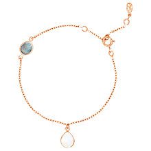 Buy Auren 18ct Rose Gold Vermeil Moonstone and Topaz Bracelet, Rose Gold Online at johnlewis.com