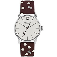 Buy Radley Women's Vintage Dog Dot Leather Strap Watch Online at johnlewis.com