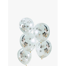Buy Ginger Ray Star Silver Confetti Balloons, Pack of 5 Online at johnlewis.com