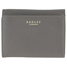 Buy Radley Larks Wood Leather Small Purse, Grey Online at johnlewis.com