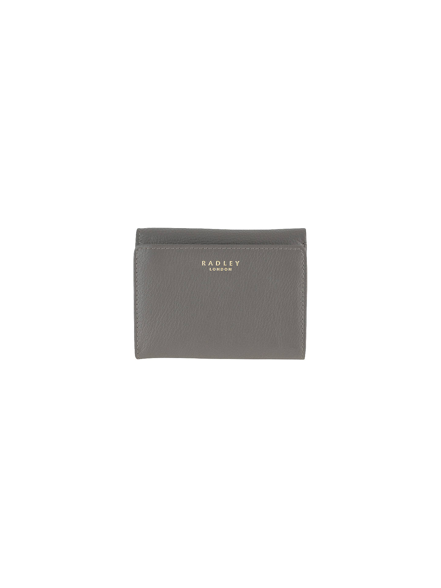 d9e88efab2 Buy Radley Larks Wood Leather Small Purse, Grey Online at johnlewis.com ...