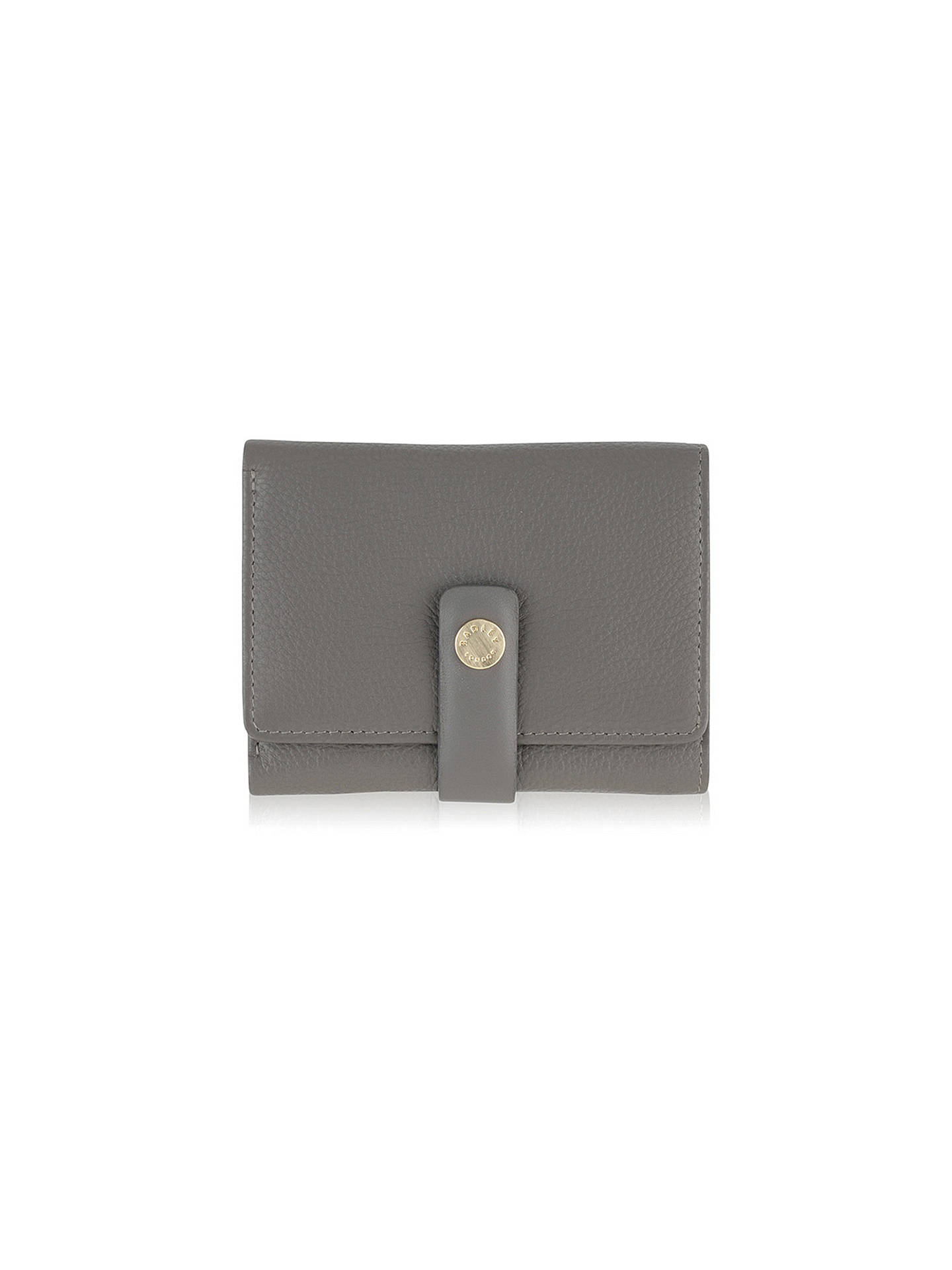 0a97cb46fc ... Buy Radley Larks Wood Leather Small Purse, Grey Online at johnlewis.com