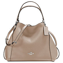 Buy Coach Edie 28 Leather Shoulder Bag, Stone Online at johnlewis.com