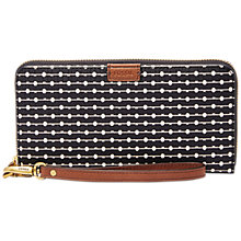 Buy Fossil Emma Large Printed Zip Clutch Purse Online at johnlewis.com