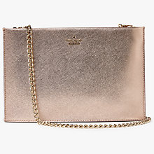 Buy kate spade new york Cameron Street Sima Leather Clutch Bag, Rose Gold Online at johnlewis.com