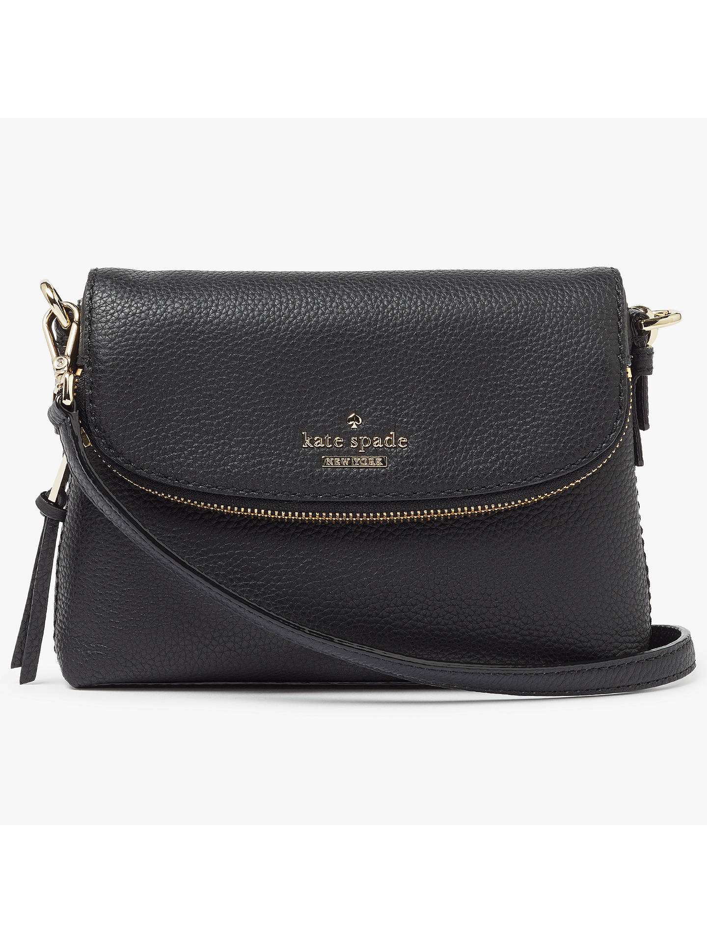 d8493c511 Buy kate spade new york Jackson Street Harlyn Small Leather Cross Body Bag,  Black Online ...