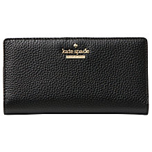 Buy kate spade new york Cameron Street Stacy Pebbled Leather Purse, Black Online at johnlewis.com