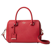 Buy kate spade new york Cameron Street Lane Leather Satchel, Rosso Online at johnlewis.com