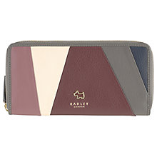 Buy Radley Oxleas Leather Matinee Purse, Grey/Multi Online at johnlewis.com