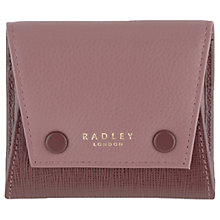 Buy Radley Kenley Common Small Leather Coin Purse, Burgundy Online at johnlewis.com