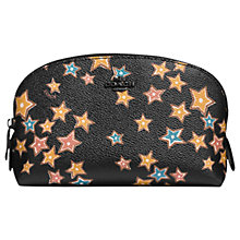 Buy Coach Leather Cosmetic Case 17, Black Stars Online at johnlewis.com